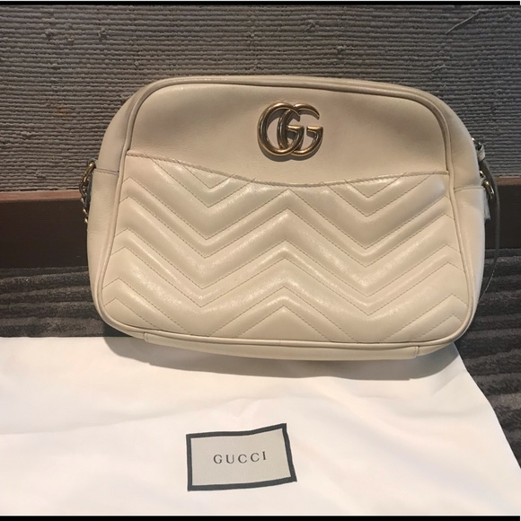 2fc676b120b6 Gucci Bags | Calfskin Medium Gg Marmont Shoulder Bag | Poshmark